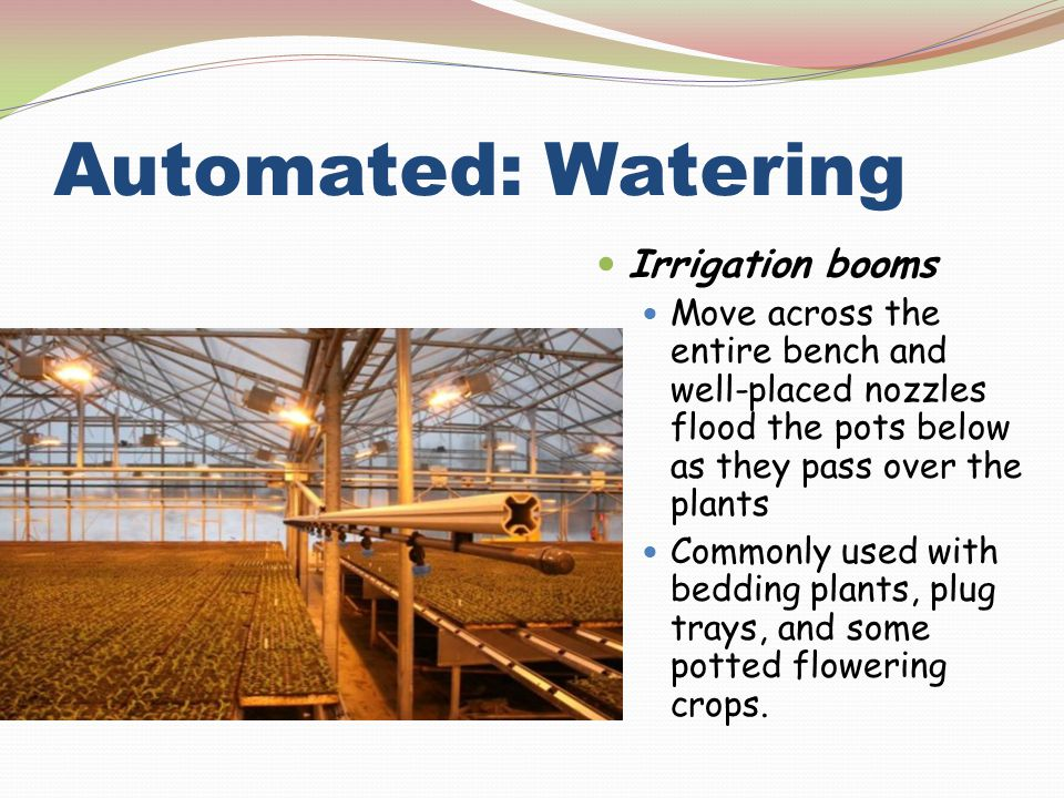 Automated: Watering Irrigation booms