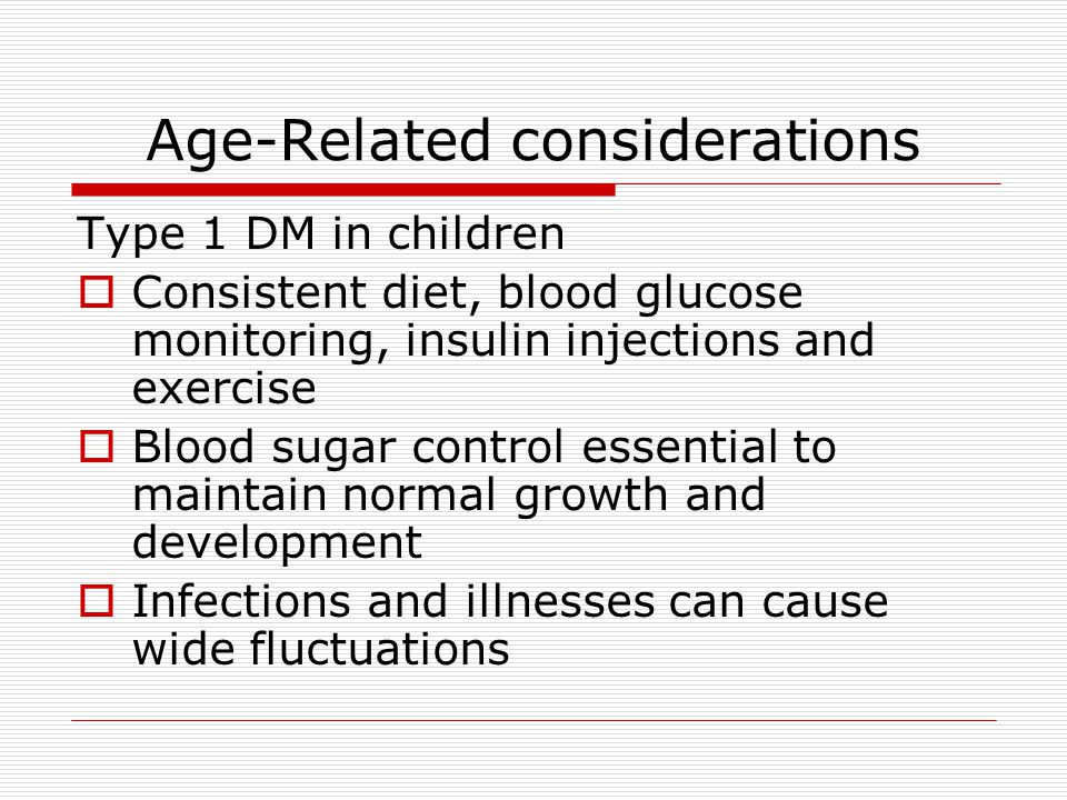 Age-Related considerations