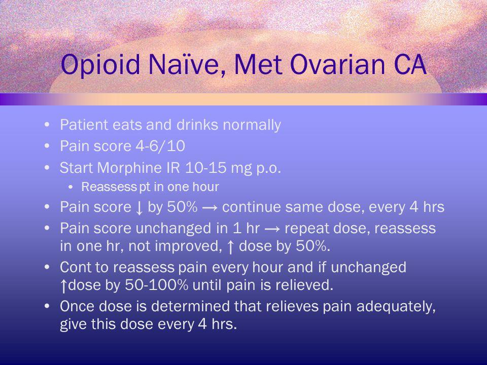 Opioid Naïve, Met Ovarian CA