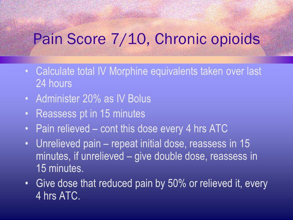 Pain Score 7/10, Chronic opioids
