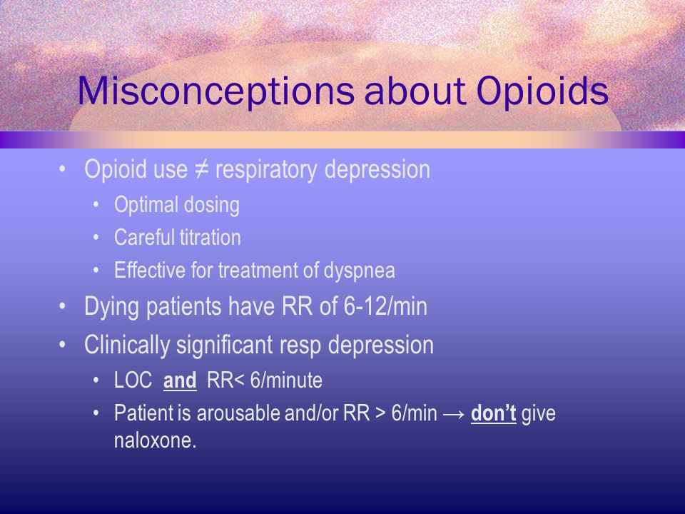 Misconceptions about Opioids