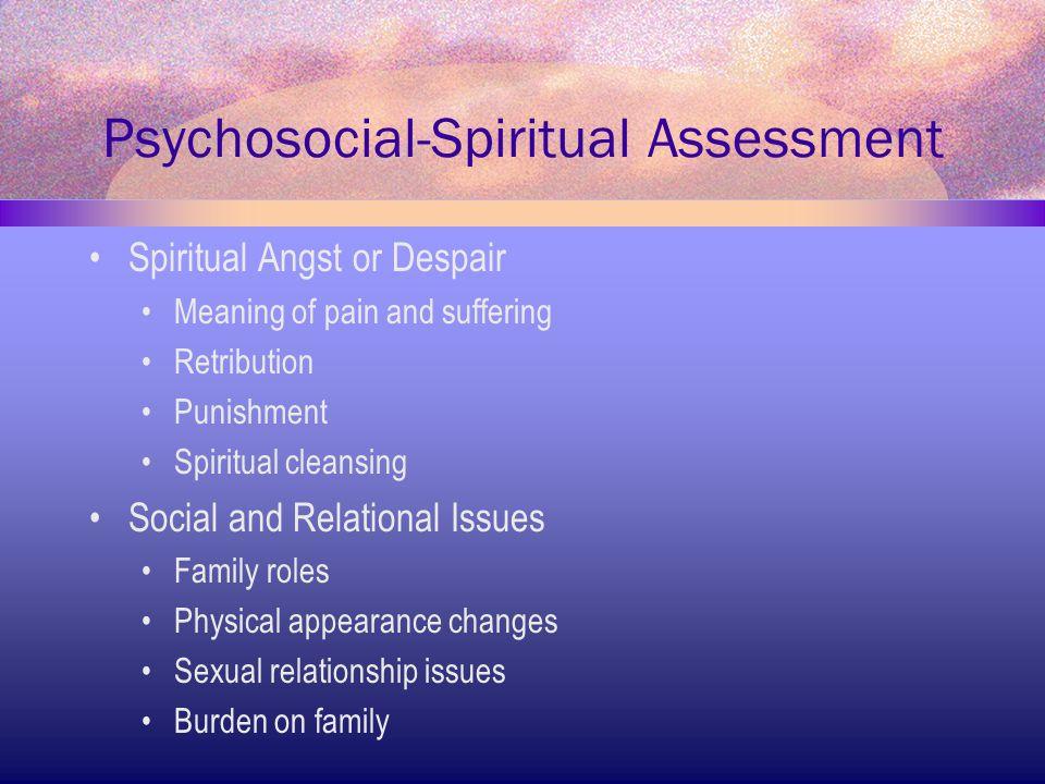 Psychosocial-Spiritual Assessment