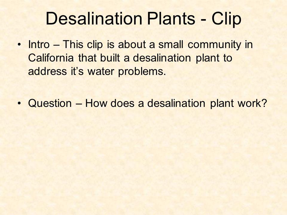 Desalination Plants - Clip