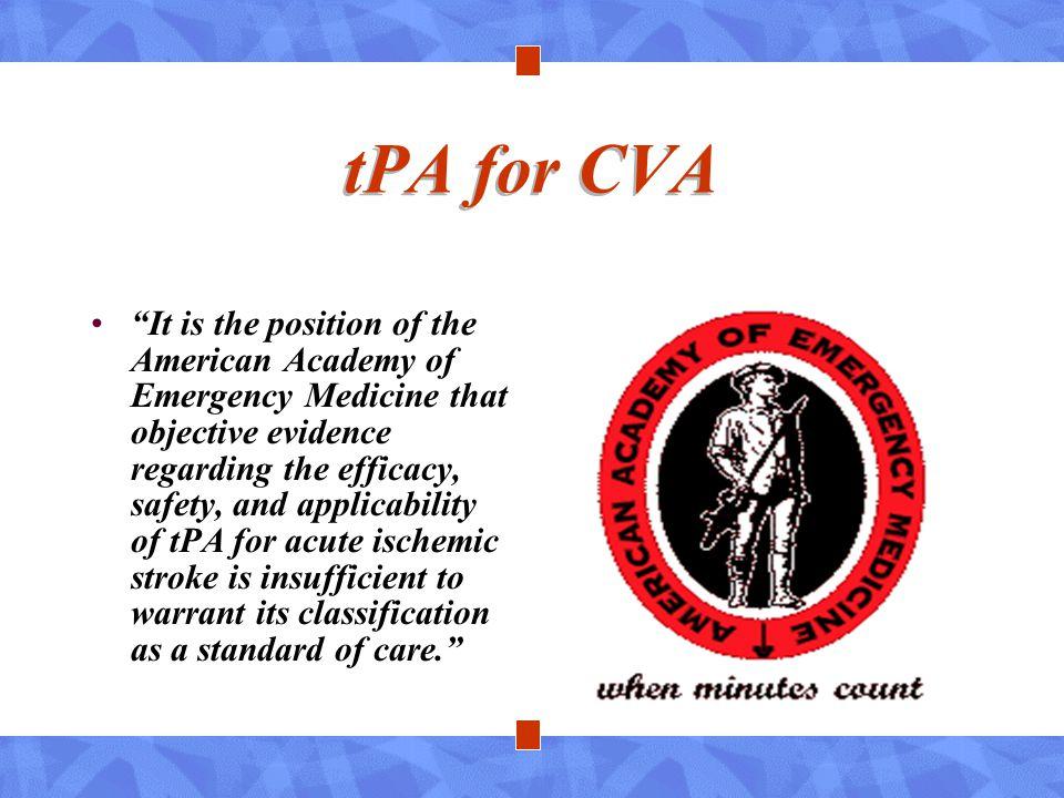 tPA for CVA