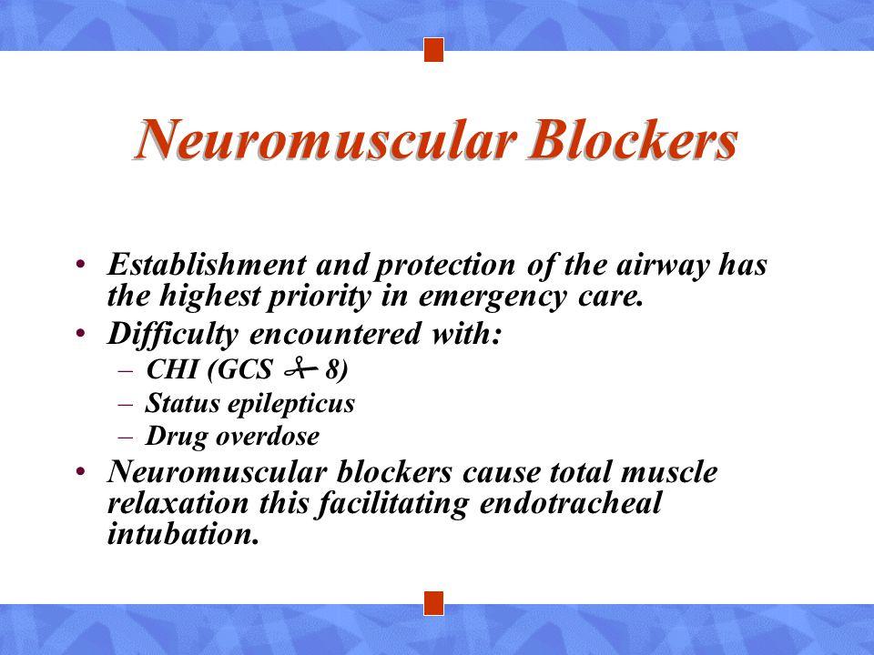 Neuromuscular Blockers