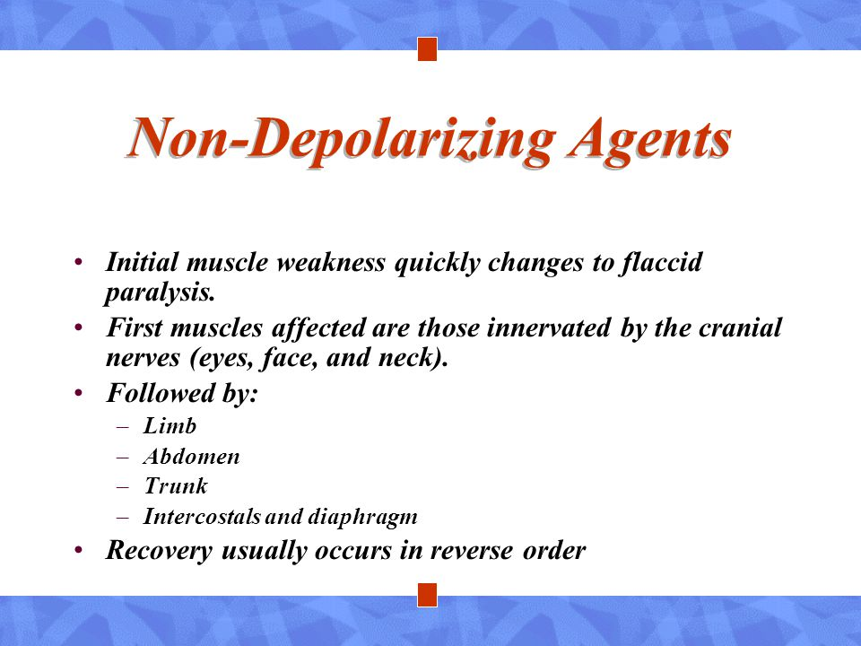 Non-Depolarizing Agents