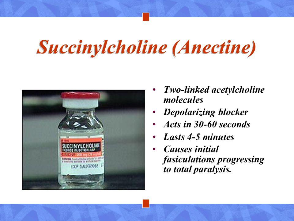 Succinylcholine (Anectine)