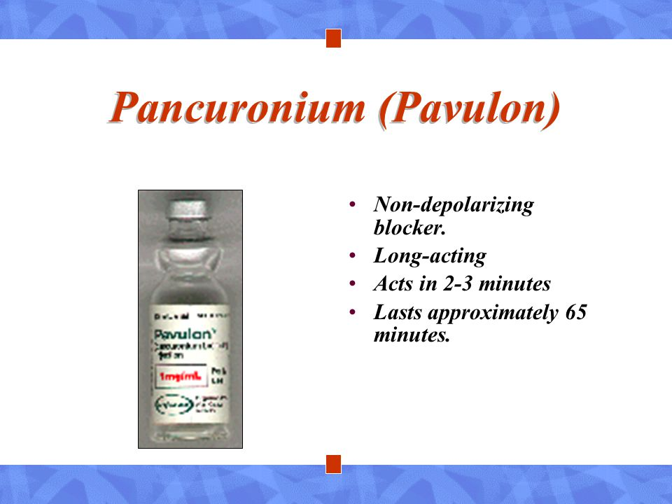 Pancuronium (Pavulon)