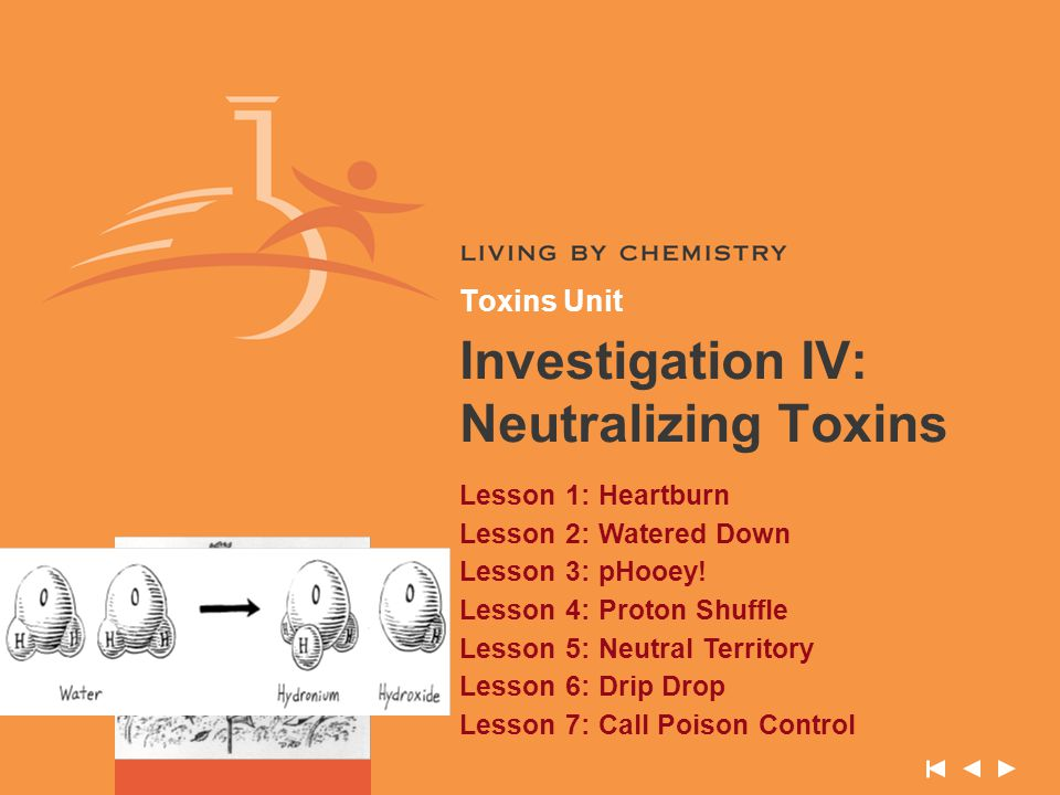 Investigation IV: Neutralizing Toxins