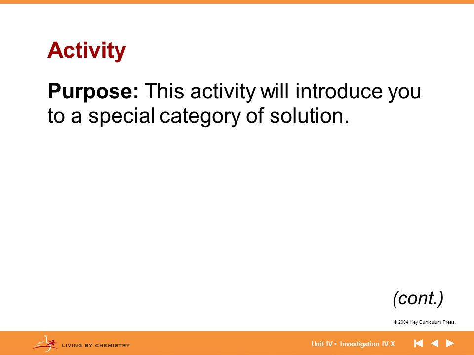 Activity Purpose: This activity will introduce you to a special category of solution.