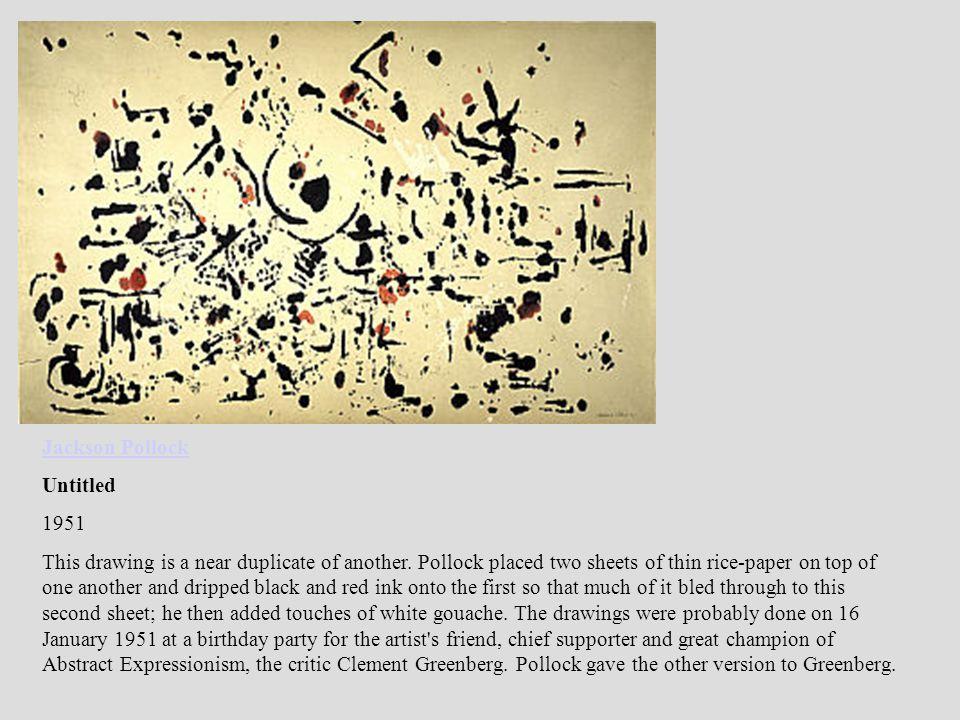 Jackson Pollock Untitled. 1951.