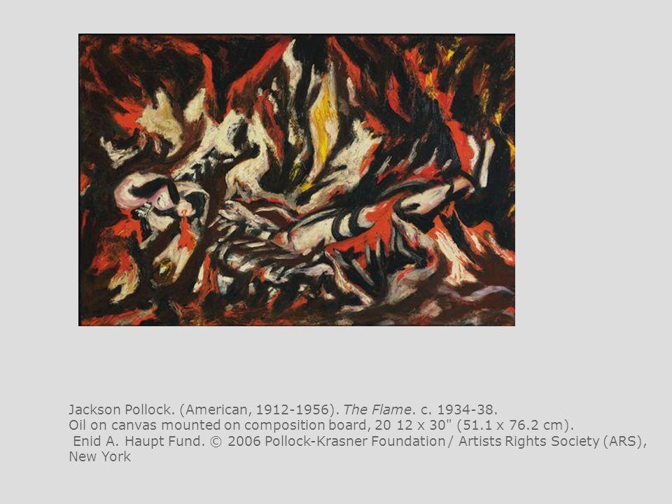 Jackson Pollock. (American, 1912-1956). The Flame. c. 1934-38.