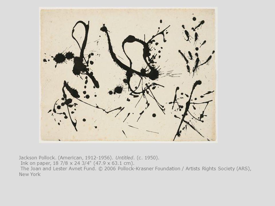 Jackson Pollock. (American, 1912-1956). Untitled. (c. 1950).