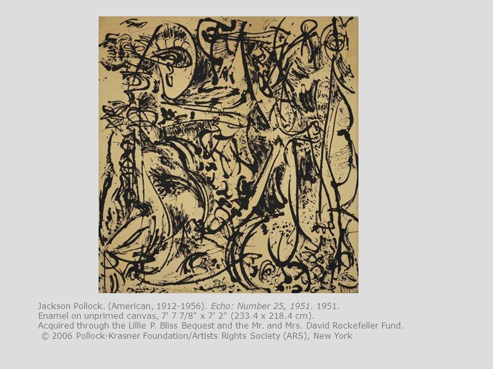 Jackson Pollock. (American, 1912-1956). Echo: Number 25, 1951. 1951.