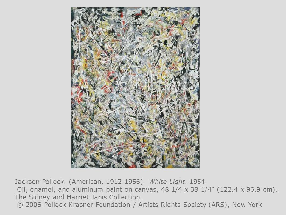 Jackson Pollock. (American, 1912-1956). White Light. 1954.
