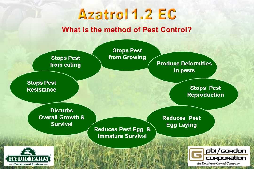 What is the method of Pest Control Reduces Pest Egg Laying