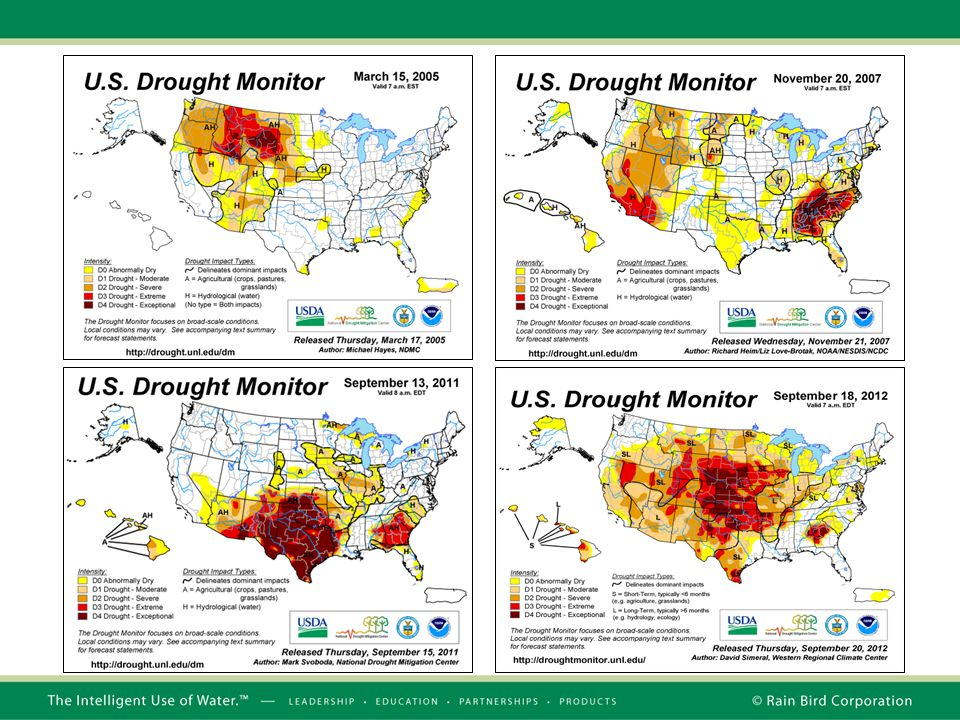 And there are very few countries that have not been affected in some manner by a scarcity of water. Just look at the U.S. Drought monitor over the last few years. Virtually all regions of the US have been affected to some degree by drought.