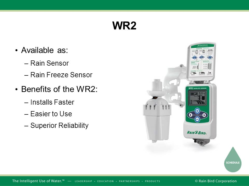 WR2 Available as: Benefits of the WR2: Rain Sensor Rain Freeze Sensor