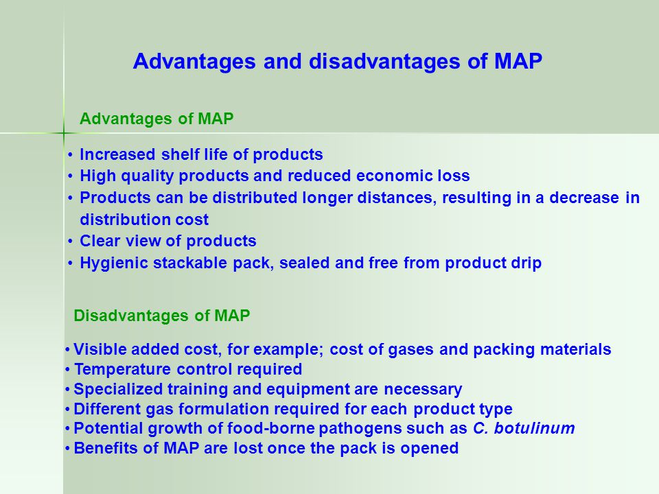 Advantages and disadvantages of MAP