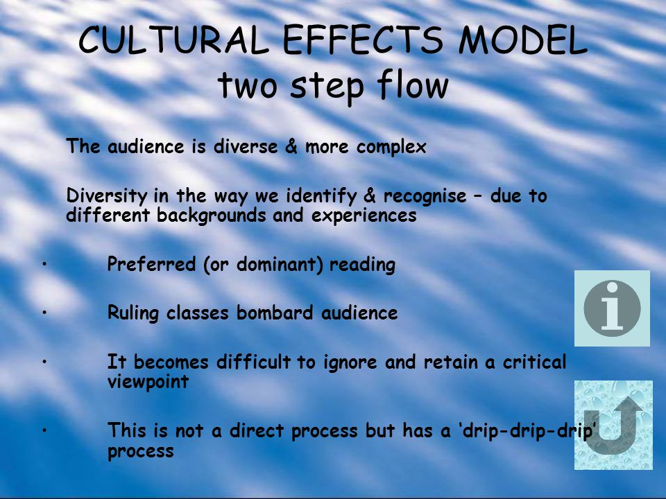 CULTURAL EFFECTS MODEL two step flow