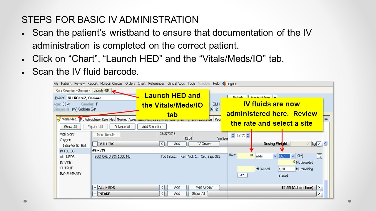 STEPS FOR BASIC IV ADMINISTRATION