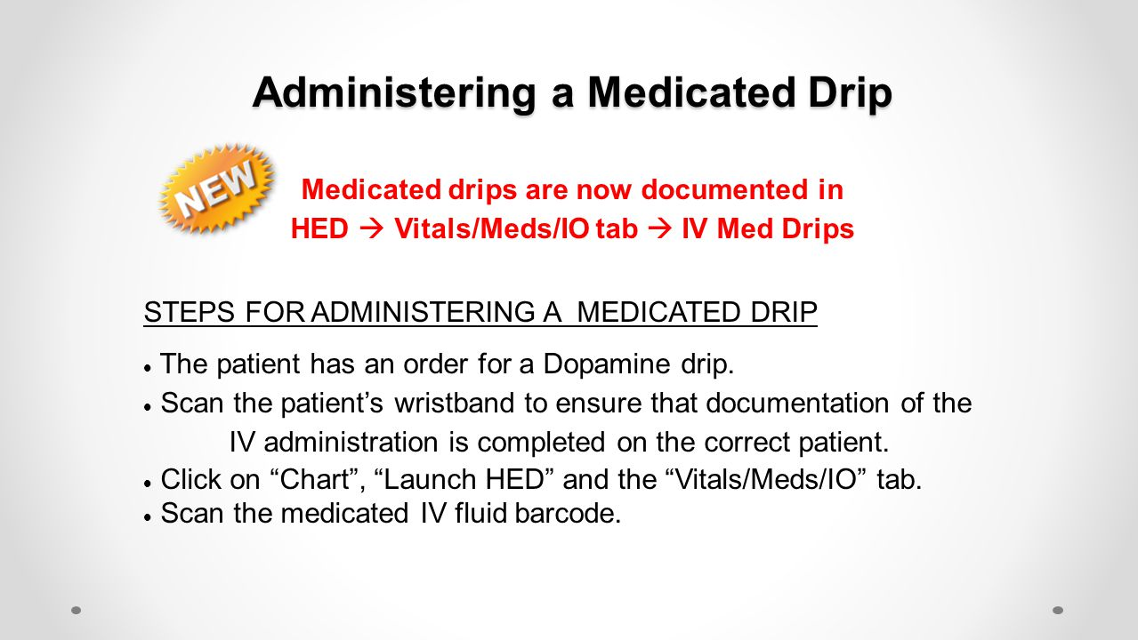 Administering a Medicated Drip