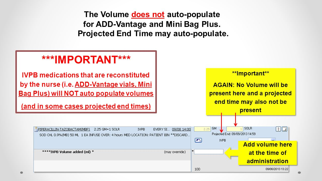 ***IMPORTANT*** The Volume does not auto-populate