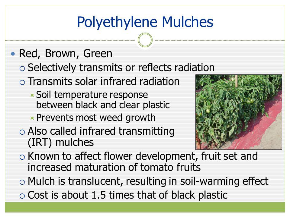 Polyethylene Mulches Red, Brown, Green