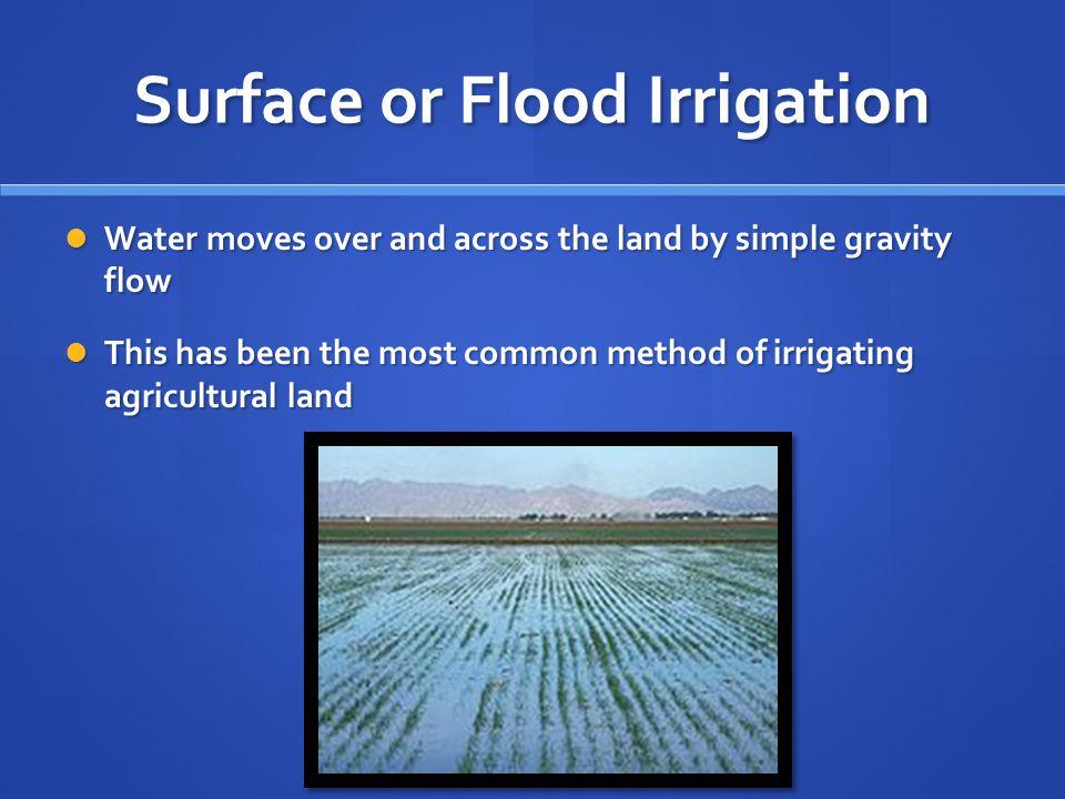 Surface or Flood Irrigation