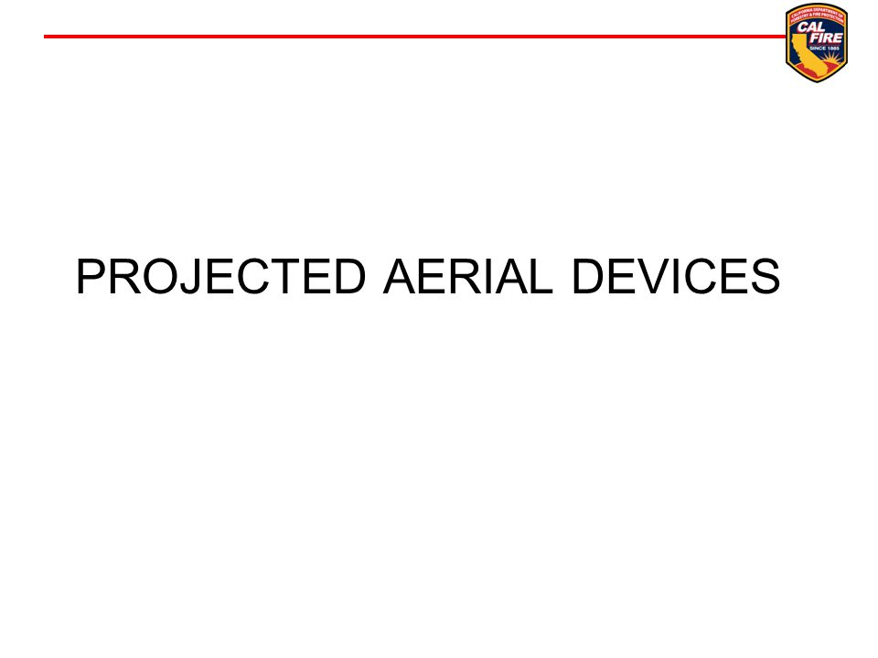PROJECTED AERIAL DEVICES
