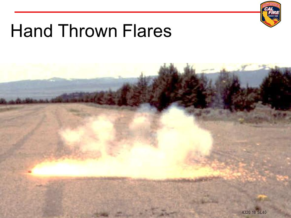 Hand Thrown Flares Flare ignition