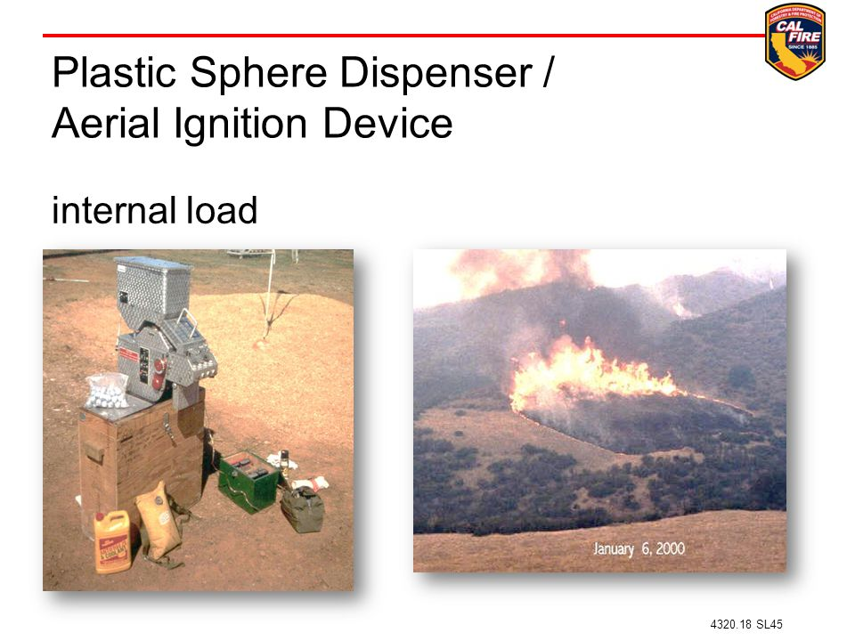 Plastic Sphere Dispenser / Aerial Ignition Device
