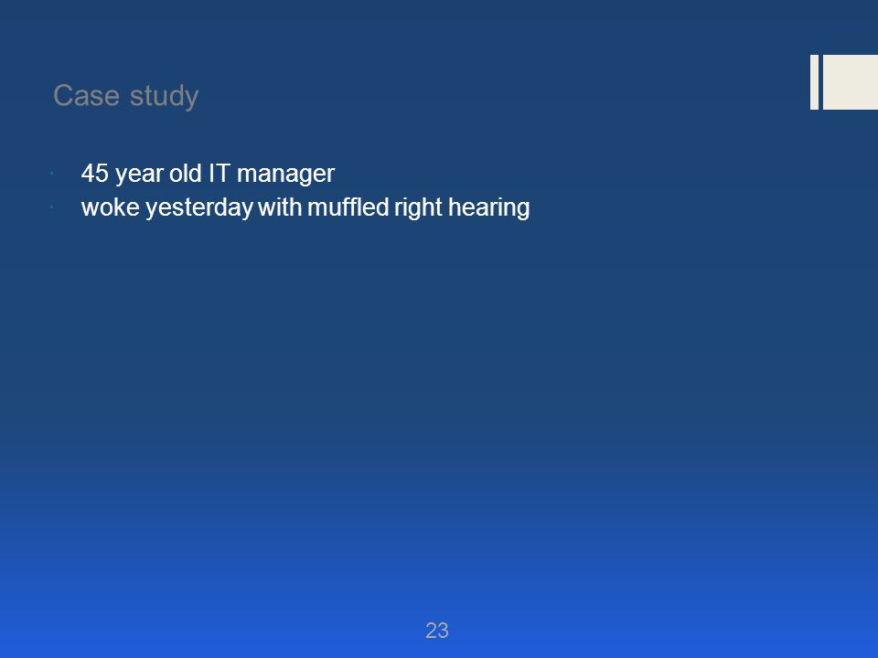Case study 45 year old IT manager