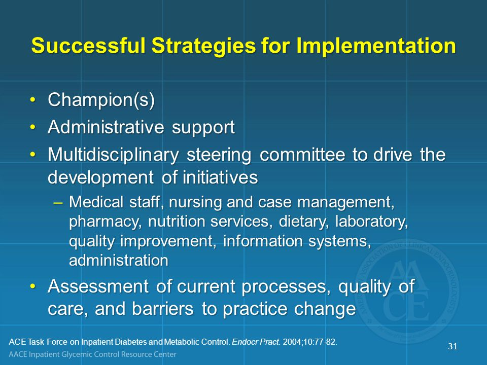 Successful Strategies for Implementation