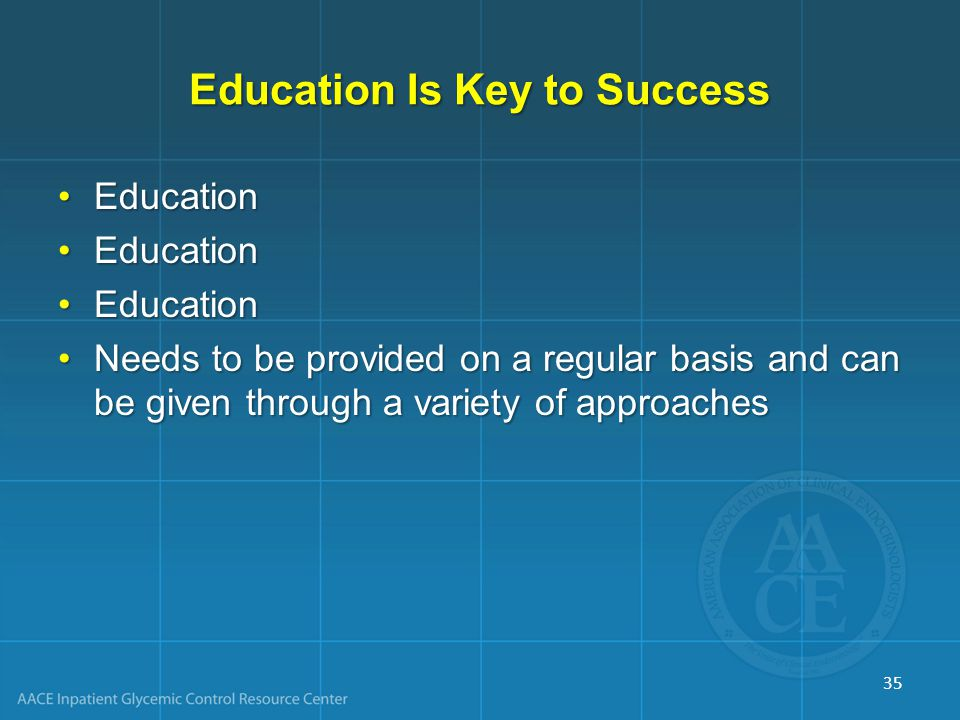 Education Is Key to Success