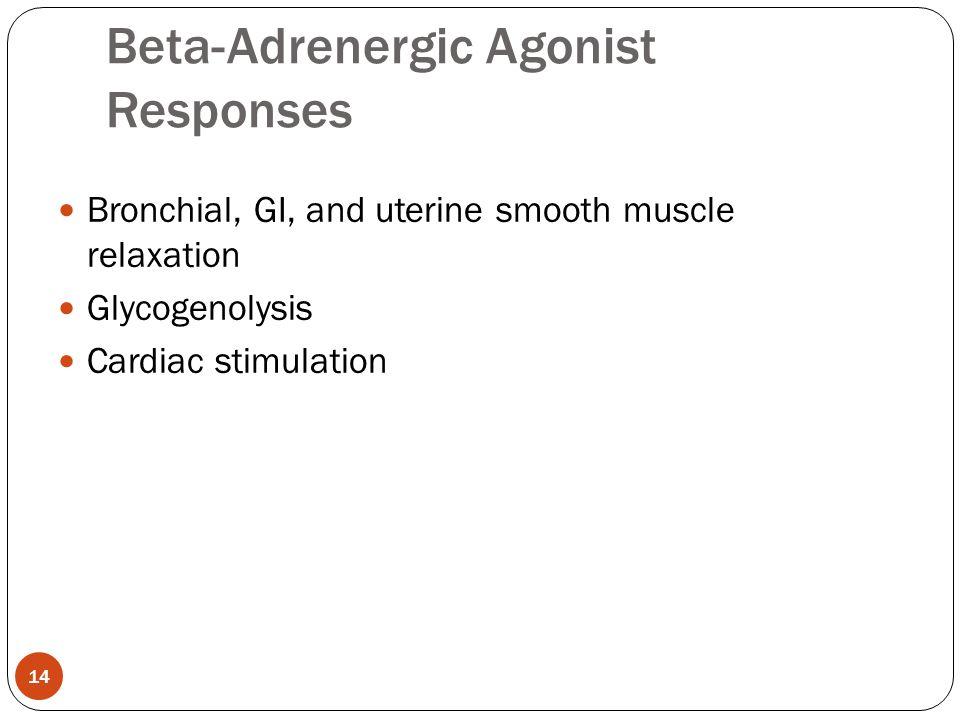 Beta-Adrenergic Agonist Responses