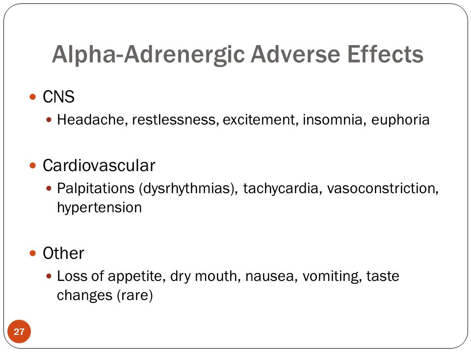 Alpha-Adrenergic Adverse Effects