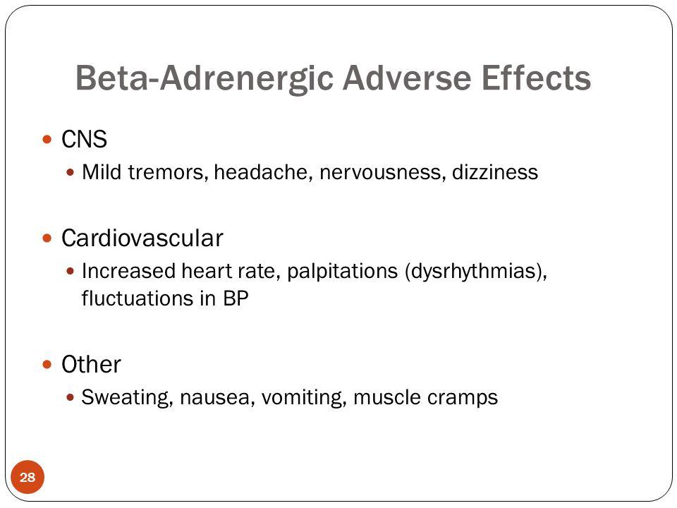 Beta-Adrenergic Adverse Effects