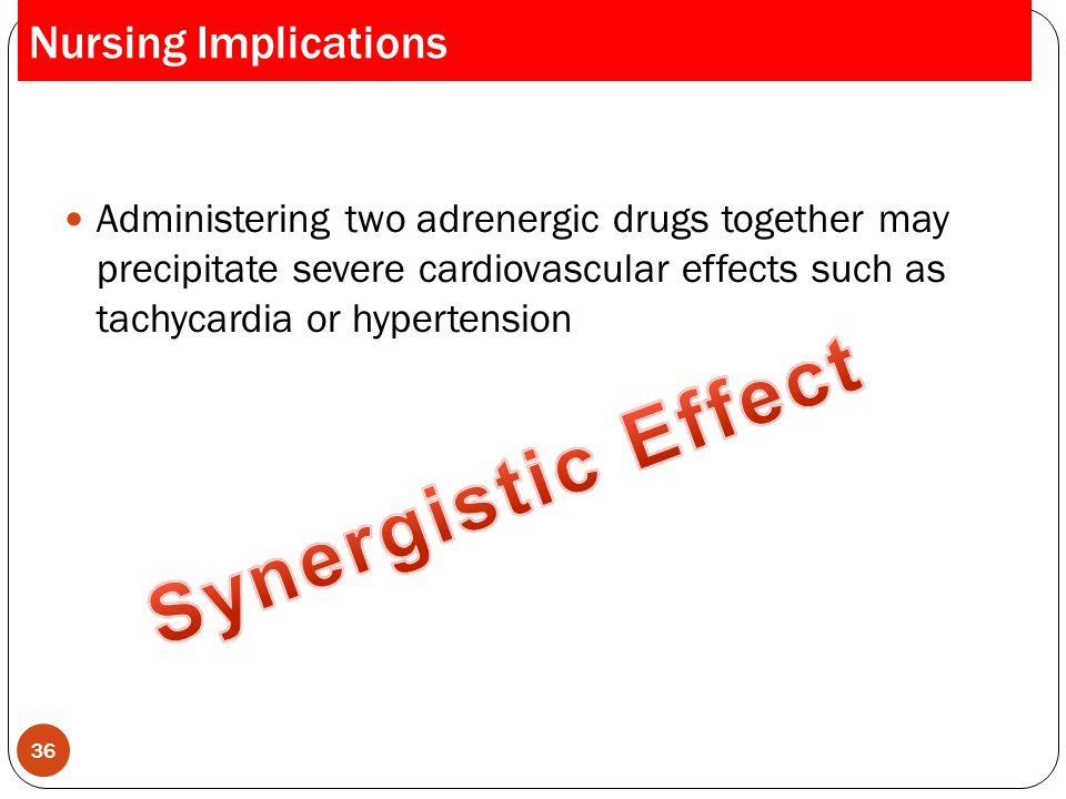 Synergistic Effect Nursing Implications