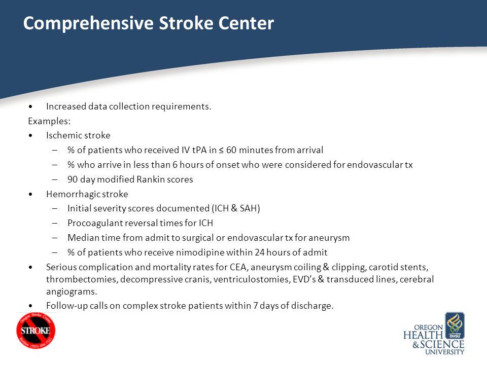 Comprehensive Stroke Center