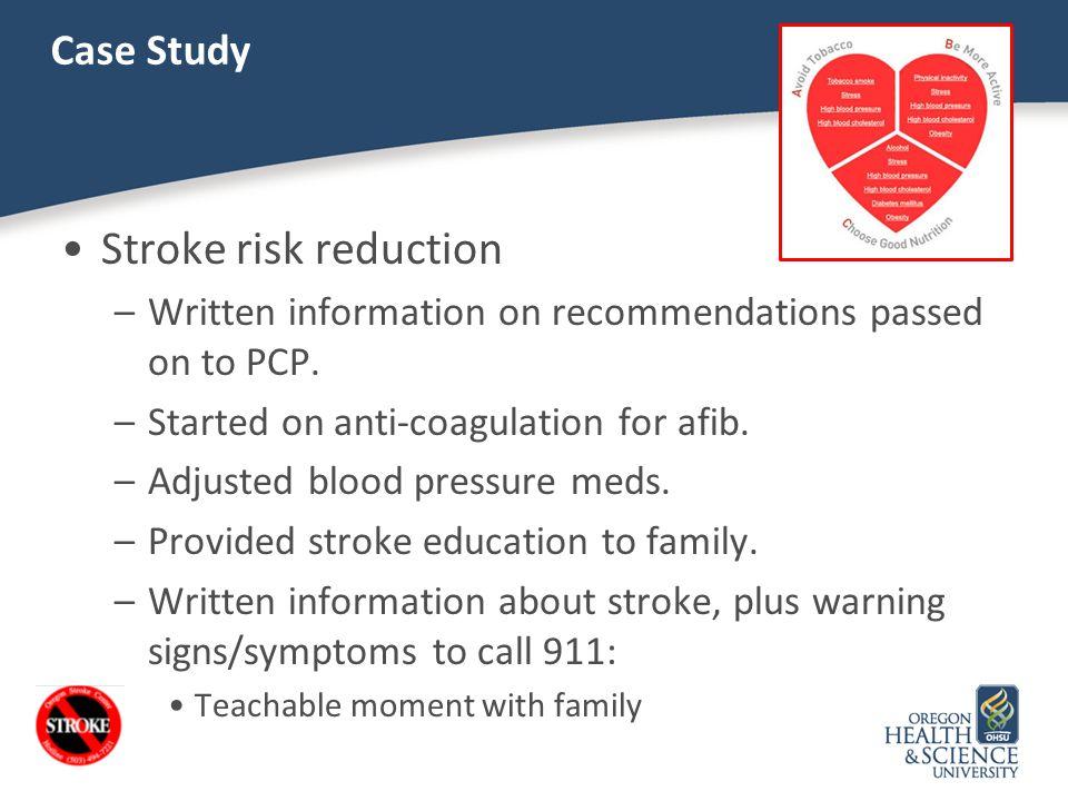 Stroke risk reduction Case Study