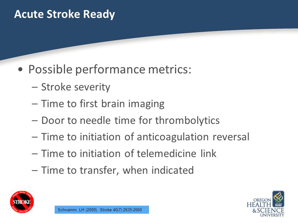 Possible performance metrics:
