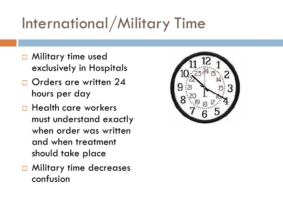 International/Military Time
