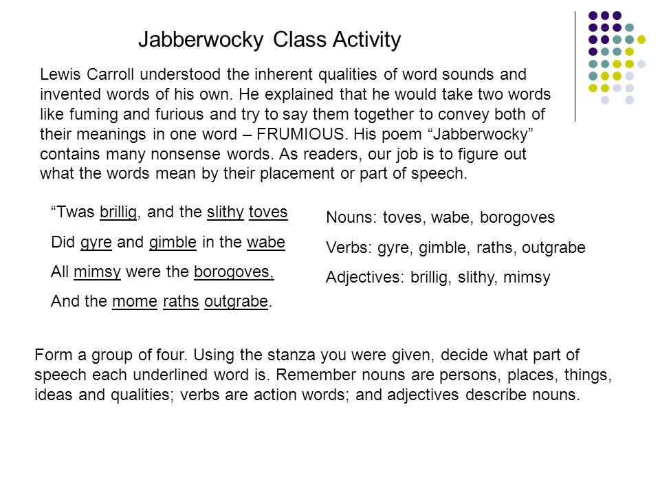 Jabberwocky Analysis