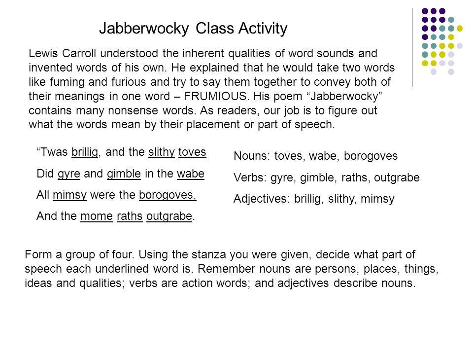 Jabberwocky Class Activity