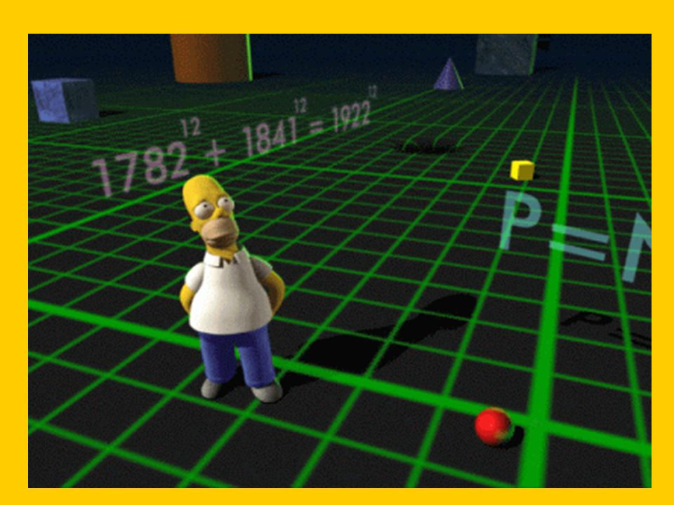 You can see the Fermat near-miss solution behind Homer, flying through the special 3-D landscape.