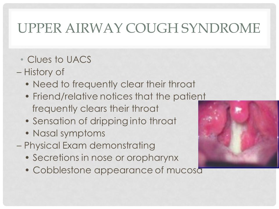 Upper Airway Cough Syndrome