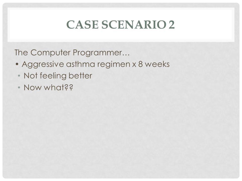 Case Scenario 2 The Computer Programmer…