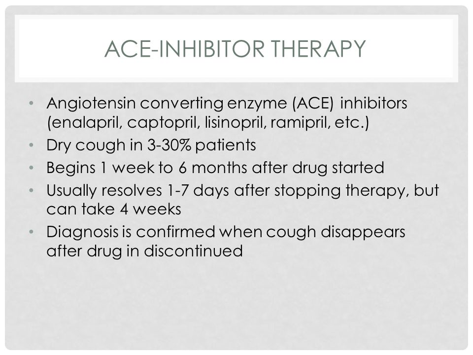 ACE-inhibitor therapy