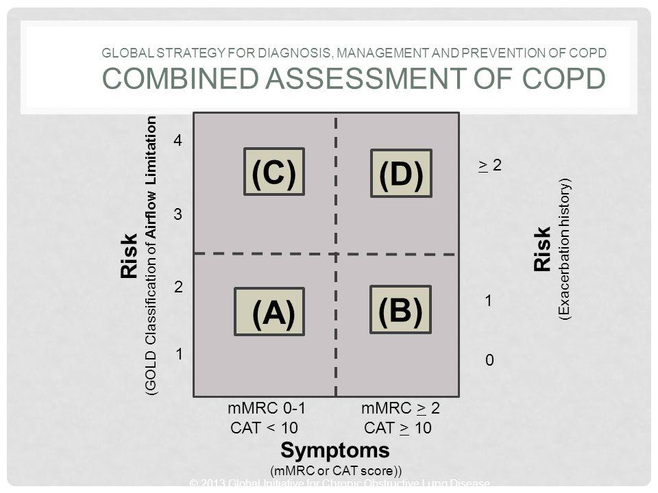 (C) (D) (B) (A) Risk Risk Symptoms 4 > 2 3 2 1 1 mMRC 0-1